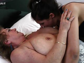 Hot Grandma Fucks Young Girl