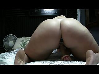 Pawg Rides Dildo With Butt Plug