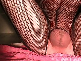 Fishnet, Anal Plug And Big Dildo Pt. 1
