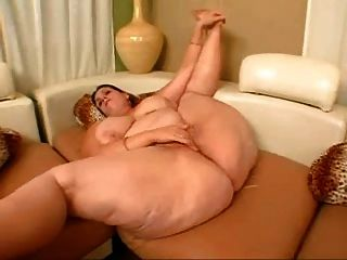 Fat Ass Mature Masturbates