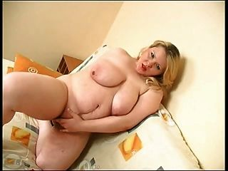 Fat Bbw Blonde Ex Gf Playing With Her Tits And Pussy