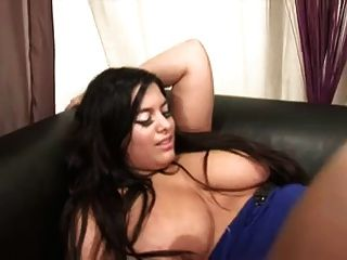 Chubby Woman With Big Tits In Stocking Fucks
