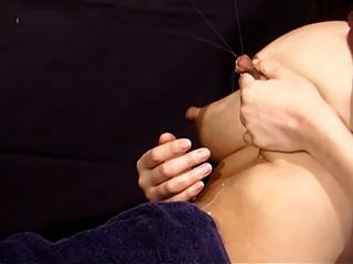 Asian Lactation: Swollen Tits + Big Nipples = Stream Of Milk