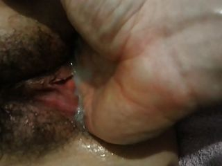 Young Sexy Slut Wife Squirting Cum Hairy Pussy