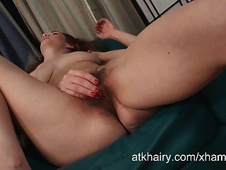 Sammy Grand Masturbates Her All Natural Hairy Pussy