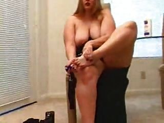 Horny Bbw Ex Girlfriend Playing With Her Pink Pussy And Feet