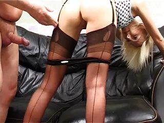 Brit Nylon Stocking Milf Pt 01