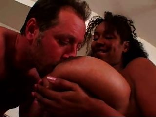 Giant Ebony Boobs Milf  Hot Sex With White Friend