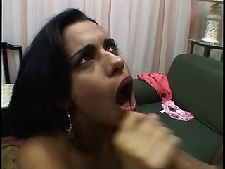 Sexy Latina Sucks Dick Then Gets Her Ass And Pussy Stretched