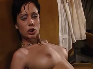 Short Haired Brunette Satisfies Two Cocks - Kd