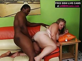 Blond Amazing Bbw Sucks And Fucks Black Guy Big Tits Part 2
