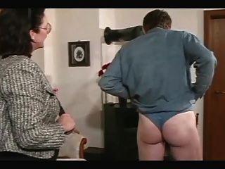 Granny Spanks And Straps The Boy
