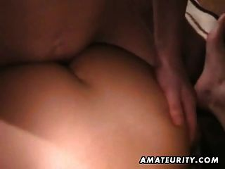 Amateur Girlfriend Homemade Threesome With Cumshots