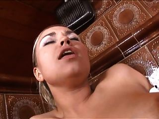 Sexy Spanish Maid Sucks Cock And Gets Nice Hard Anal Doggy Style Fucking