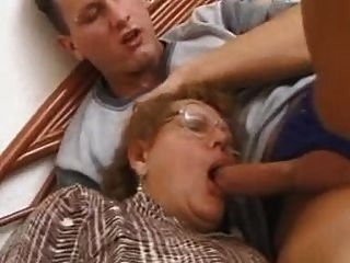Granny Gets Pounded On Her Bed