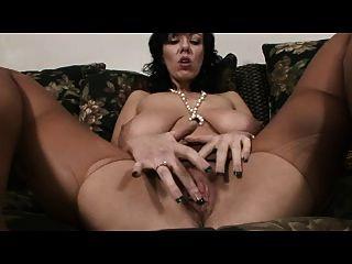 Busty Pantyhose Milf Fingers