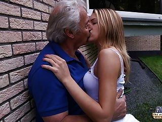 Old Gustavo Gets Bernices Young Pussy