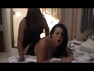 Hot Smoking Milfs Strap-on Bang
