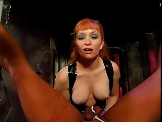 Big Tits Mistress Lolita Butt-banging Her Slave With A Strap-on