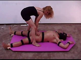 Cruel Handjob By Blond Mistress