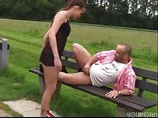 Outdoor Fuck, German Couple Have Fun