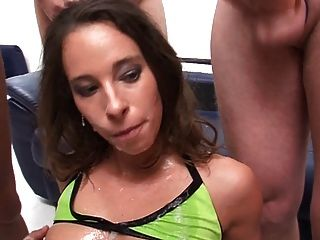 Wonderful Brunette Ganbanged And Facialized - Part Ii
