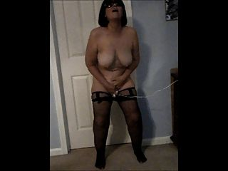Diane Masturbating While Standing