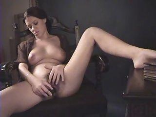 Brunette Hairy Pussy Masturbating