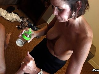 Country Milf Takes Facial