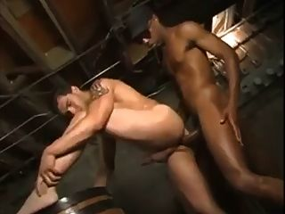 Black Guy Sinks His Huge Cock Deep In White Ass