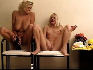 Two Whores Inserting Balls And Dildos In Their Pussies