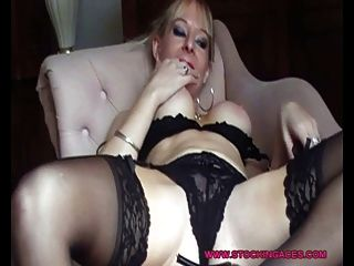 Naughty Blonde Michelle Pussy Playing
