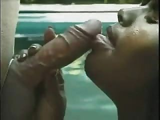 Thick Ebony Mama Deepthroats A White Dude Then Takes A Facial