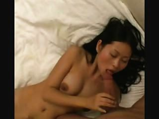 Asian Babe Barely Fits His Cock In Her Mouth