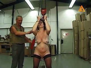 Mature Slave Slut Heidy With Heavy Genital N Nip Piercings