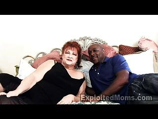 Grandma Gets Pussy Pounded By Big Black Cock