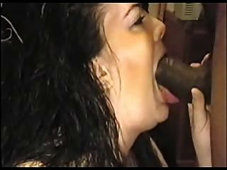 White Gal Throats A Big Ole Black  Dick