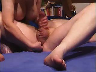 Wife Gives Prostate Massage On The Bed