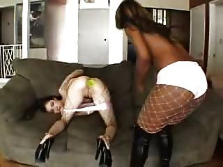 Brunette And Ebony In Threesome...f70