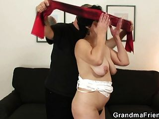 After Pussy Toying Mature Bitch Takes Two Cocks