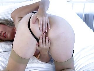 Amazing Milf In Stockings & Hairy Pussy