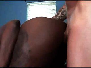 Ebony Babe Takes An Anal Pounding