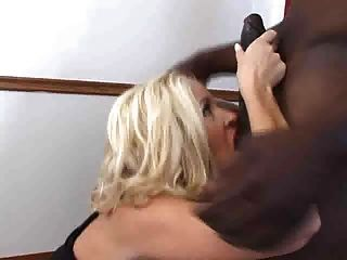 Hot Blonde Loves Black Cum