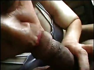 Granny Exhibs In Car And Fucks In House