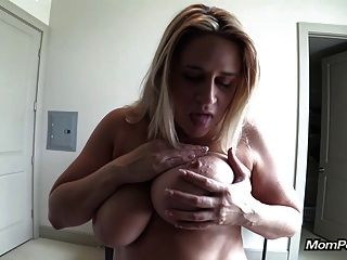 Huge Natural Tits Milf Sucks Me Off Pov