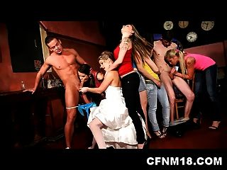 Cool Cfnm Hen Party At Prague Club With Sexy Teens