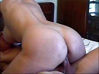 Wife With Big Tits And Ass Rides One Lucky Guy