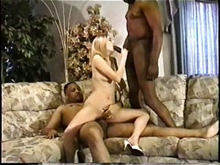 Skinny Wife Is Fucked For Two Very Big Black Cock