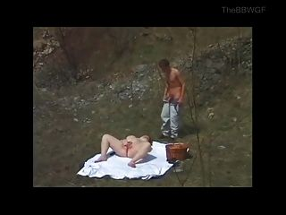 Horny Fat Bbw  Fucked Outdoors By Younger Guy
