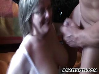 Busty Mature Amateur Milf Sucks And Fucks